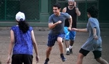 Aamir Khan spotted playing FOOTBALL with Ira Khan