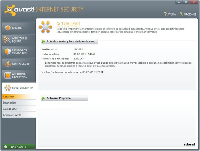 Avast! Internet Security 6.0.992 RC