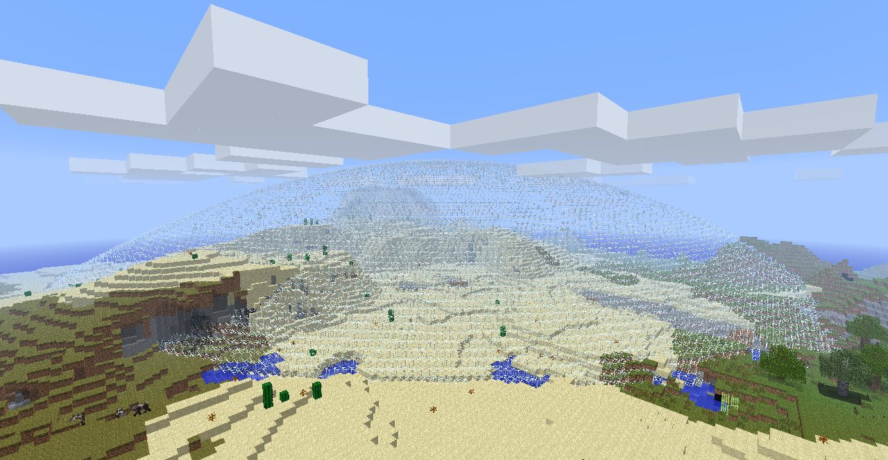 how to make a glass dome in minecraft
