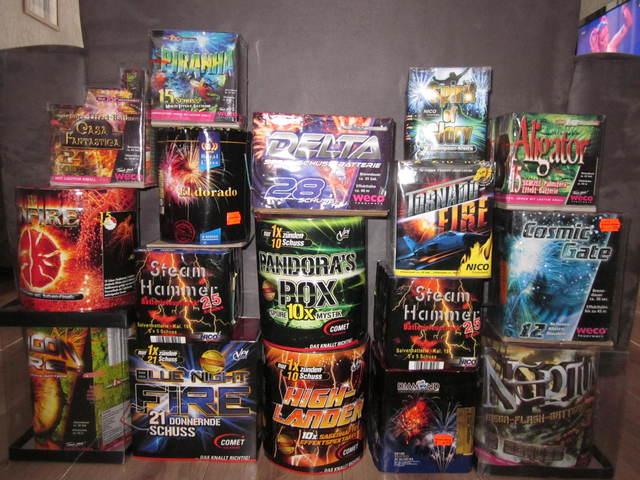 heel veel vuurwerk