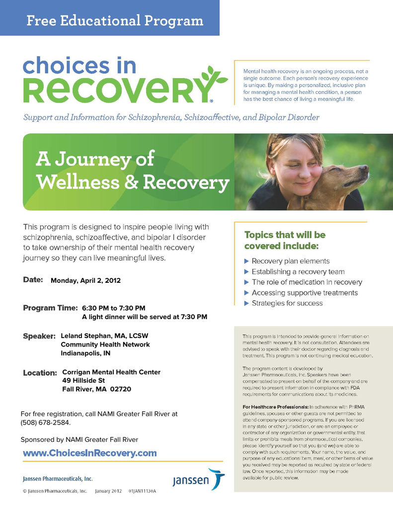 Choices In Recovery Nami Education Meeting Myfallriver Org