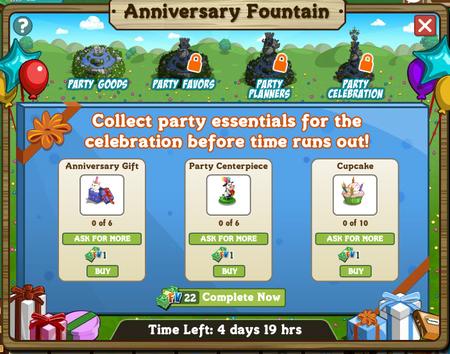 2  FarmVille's 3rd Birthday, Anniversary Fountain!