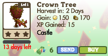 8377017 Limited Edition Castle Trees: Crown & Sword Trees!