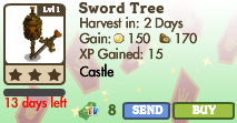 8377032 Limited Edition Castle Trees: Crown & Sword Trees!